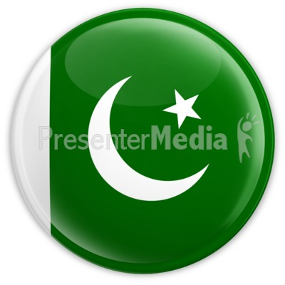 Badge of the Pakistan Flag Presentation clipart