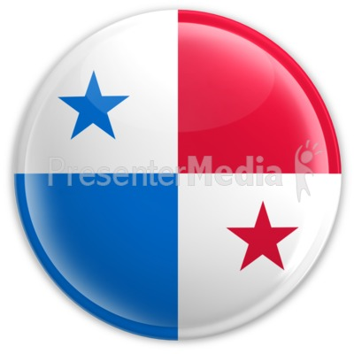 Badge of the Flag of Panama Presentation clipart