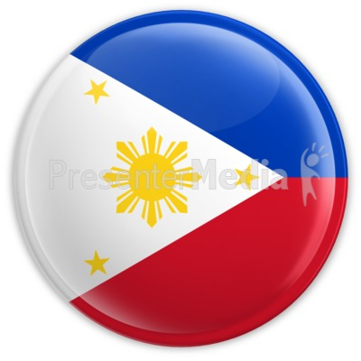 Badge of the Flag of Philippines Presentation clipart