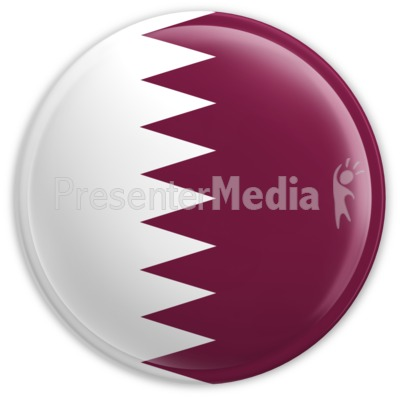 Badge of the Flag of Qatar Presentation clipart