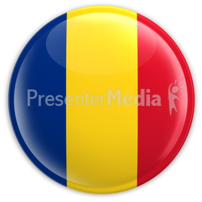 Badge of the Flag of Romania Presentation clipart