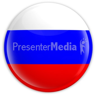 Badge of the Flag of Russia Presentation clipart