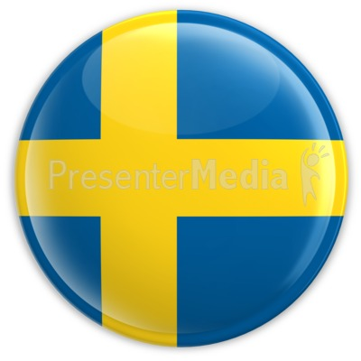 Badge of the Flag of Sweden Presentation clipart