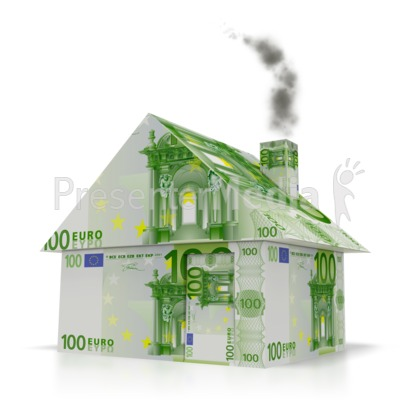 Euro Money House Presentation clipart