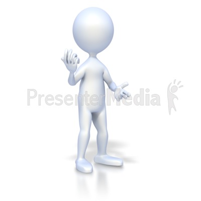 Figure Conversational Pose Presentation clipart
