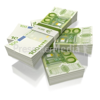 Euro Money Three Stack  Presentation clipart