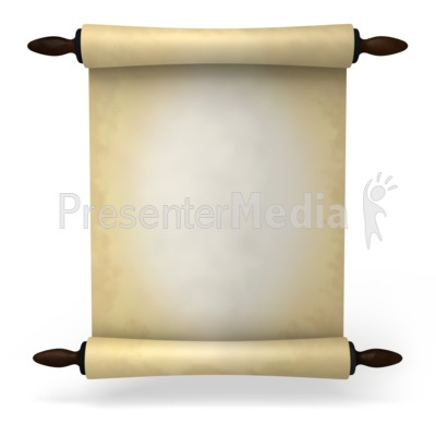 Ancient Scroll Presentation clipart