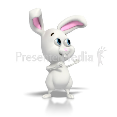 Easter Bunny Gesturing  Presentation clipart