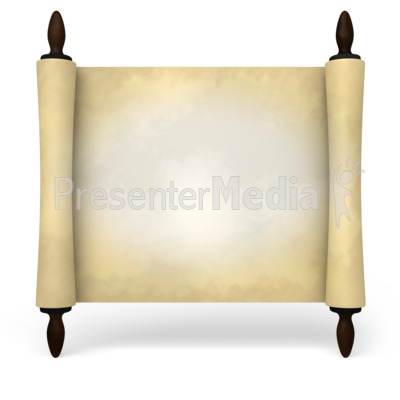 Ancient Scroll Rotated Presentation clipart