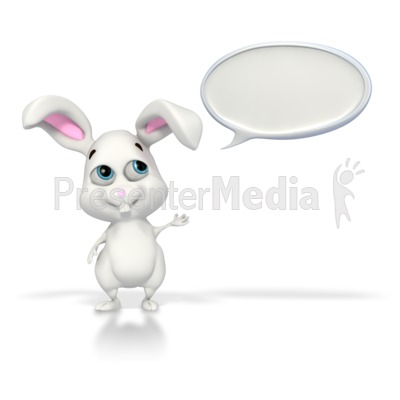 Easter Bunny Conversation Presentation clipart
