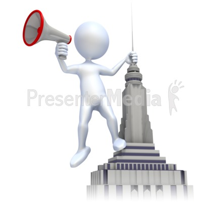 Shout From Roof Presentation clipart