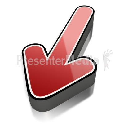 Red Short Shiny Arrow Outline Presentation clipart