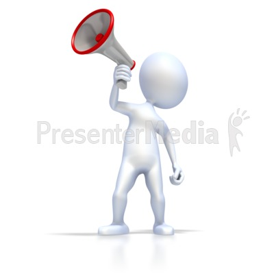 Figure With Megaphone Presentation clipart