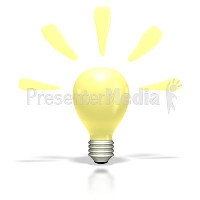 Light Bulb Bright Idea Clipart