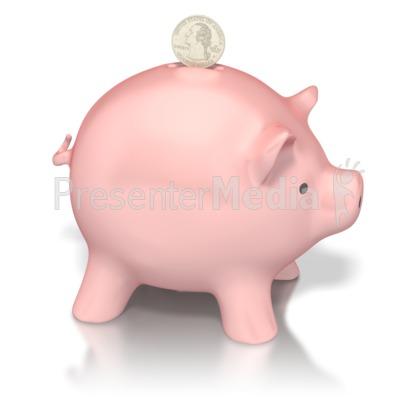 Piggy Bank Deposit Presentation clipart