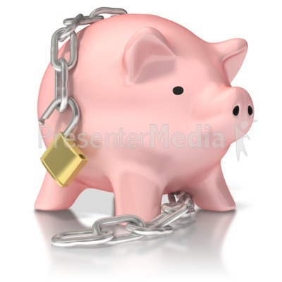 Piggy Bank Unlocked Presentation clipart