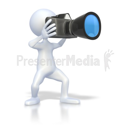 Stick Figure Taking Picture Presentation clipart