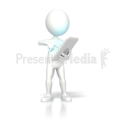 Digital Computer Tablet Operate Presentation clipart