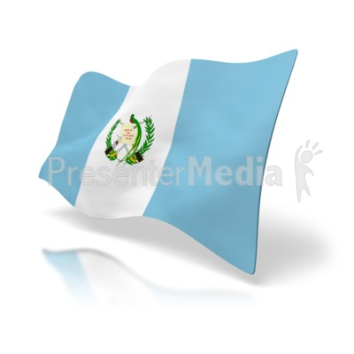 Guatemala Flag Perspective Presentation clipart