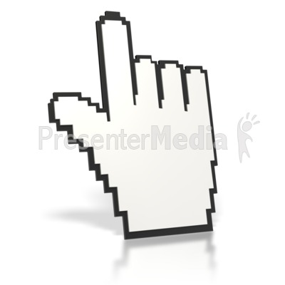 Mouse Finger Point Up  Presentation clipart