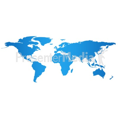Blue Flat World Map Presentation clipart