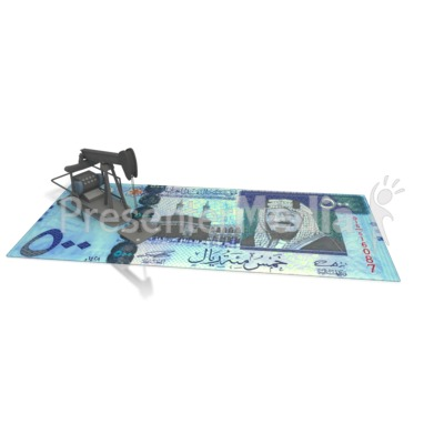 Oil Money Saudi Arabia Presentation clipart