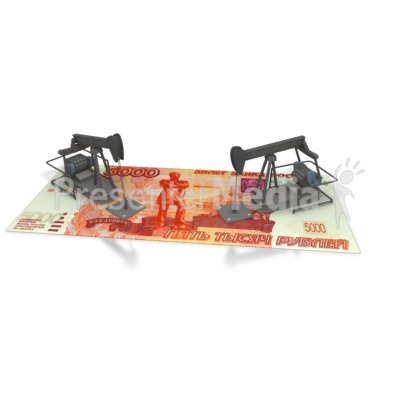 Oil Money Russia  Presentation clipart