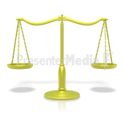 Justice Scale Gold  Presentation clipart