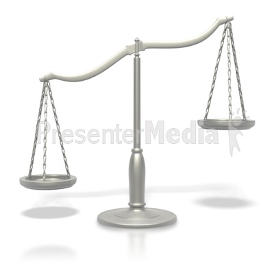 Justice Scale Tipped  Presentation clipart