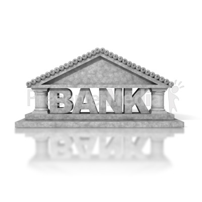 Bank Building Presentation clipart