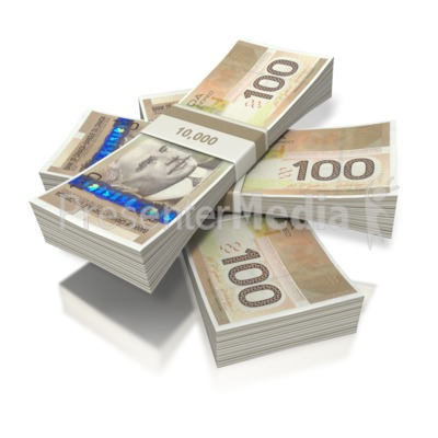Canadian Money Three Bundles Presentation clipart