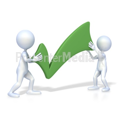 Figures With Check Mark Presentation clipart