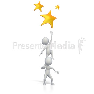 Reaching For The Stars Presentation clipart