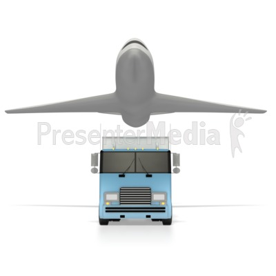 Truck And Airplane  Presentation clipart