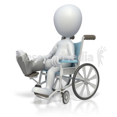 Stick Figure In Wheelchair  Presentation clipart