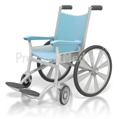 Medical Wheelchair  Presentation clipart