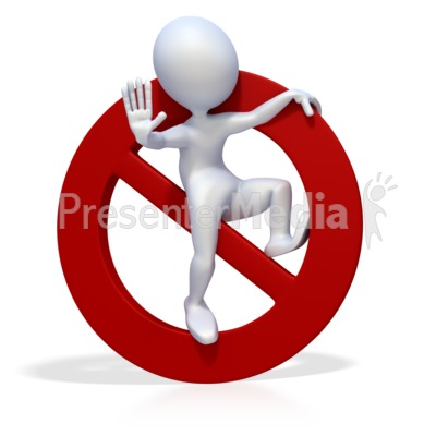 3D Figure Prohibited or Banned Symbol Presentation clipart