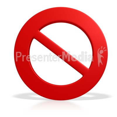 Prohibited Symbol Presentation clipart