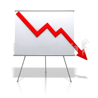 Financial Graph Decrease Presentation clipart