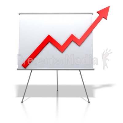 Financial Graph Increase Presentation clipart
