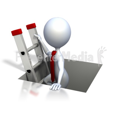 Stick Figure Climbing The Corporate Ladd Presentation clipart