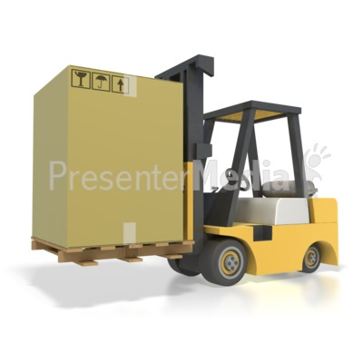 Forklift Box Shipping Presentation clipart