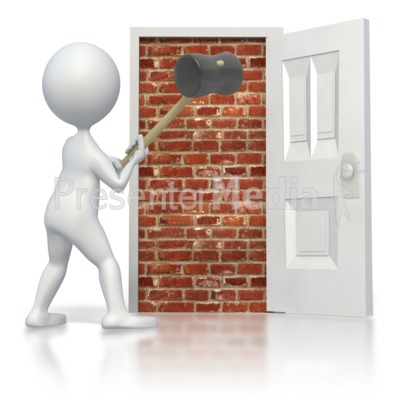 Break Brick Door Presentation clipart