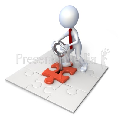 Square Puzzle With Stick Figure Presentation clipart