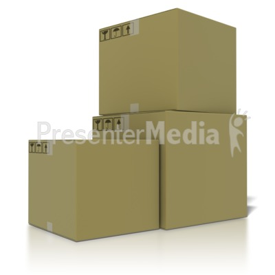 Stack Of Boxes Presentation clipart