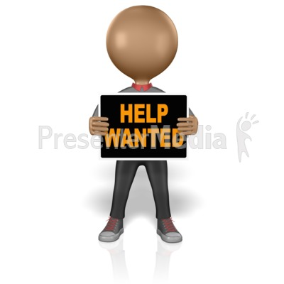 Figure Help Wanted Presentation clipart