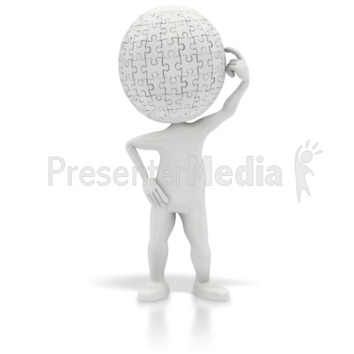 Puzzle Head Thinking Presentation clipart