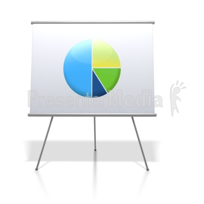 Financial Pie Chart Board Presentation clipart