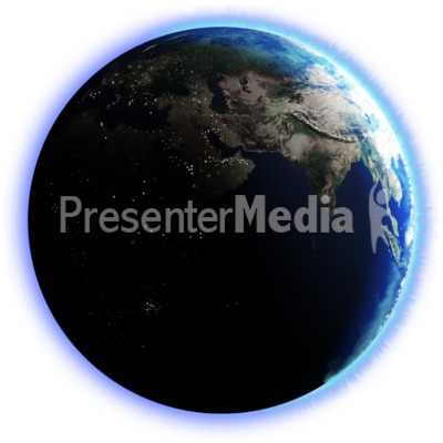 Earth Dark Side City Lights Presentation clipart