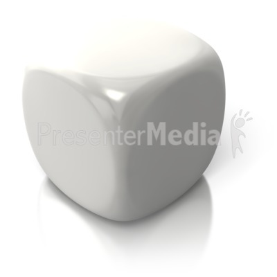 Blank White Dice Presentation clipart